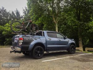 Ford Ranger T6 Sportlid for Tango with bikes and rhino rack