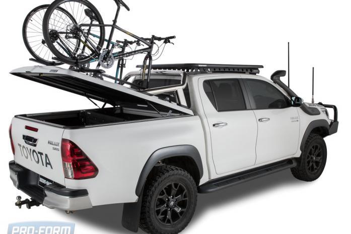 Sportlid for tango racks on a Toyota Revo Hilux 4x4
