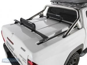 White Sportlid for tango racks on a Toyota Revo Hilux 4x4 Closed