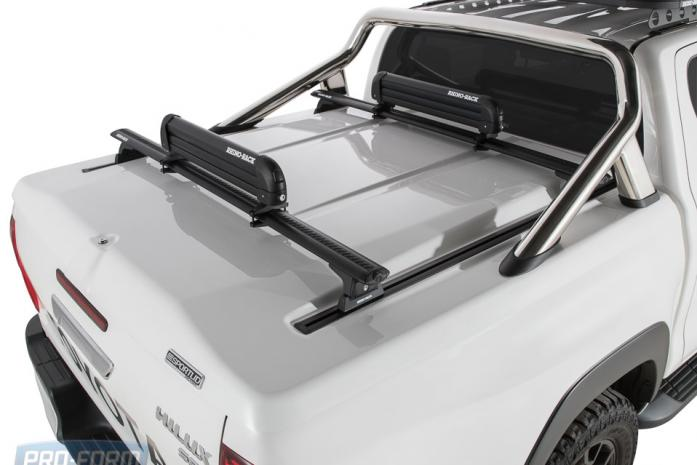 White Sportlid for tango racks on a Toyota Revo Hilux 4x4 Closed