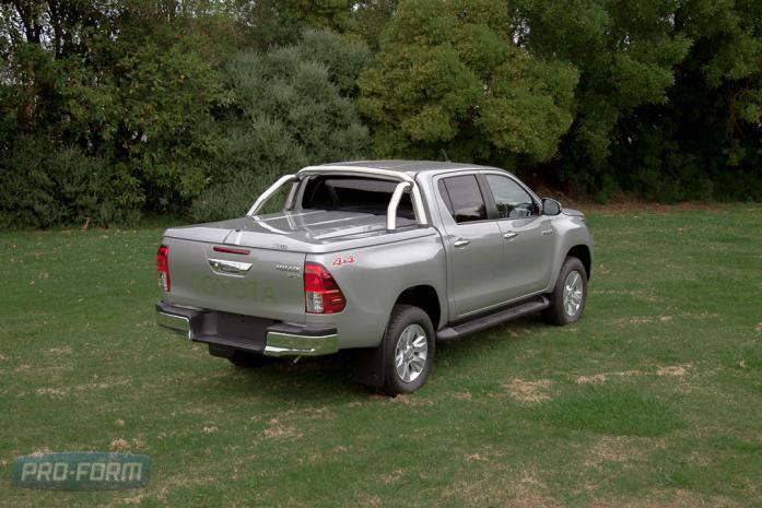 Grey Toyota Hilux Revo Sportlid for Tango. ute