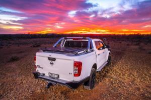 Nissan Navara Ute with hard cover lid in australia arb 4x4