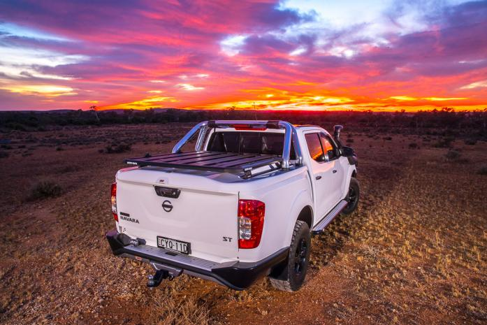 Nissan Navara Ute with hard cover lid in australia arb 4x4